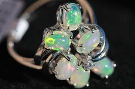 opal rings unique images Unique 6 piece natural ethiopian opal ring set in sterling silver jpg