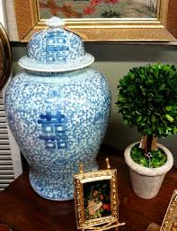 white ginger jar l large blue and white asian ginger jar with lid pretty li l things