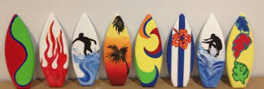 surfboard wall art home decorations 1ft surfboard wall party decor hand painted personalized