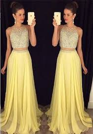prom gown two piece prom dress evening gowns 2 pieces party