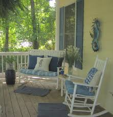 Summer Porch Decor by Yepp Rocking Chair And Bench On The Front Porch Only Thing