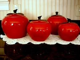 apple canisters for the kitchen canisters astonishing red apple canister set apple shaped canister