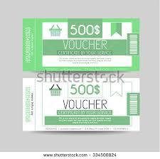 gift voucher coupon discount set stock vector 534085552
