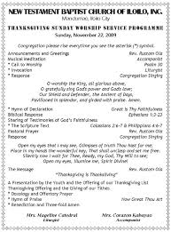 thanksgiving invocation worship programme new testament baptist church inc page 4
