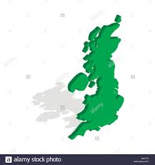 Great Britain World Map by Map Of Great Britain Icon Isometric 3d Style Stock Vector Art