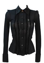 black sheer blouse guess black sheer blouse with ruffle design coloured diamante