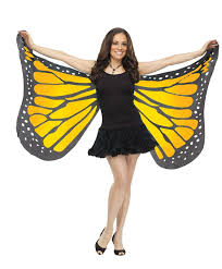 soft cloth fabric butterfly blue purple orange wings costume