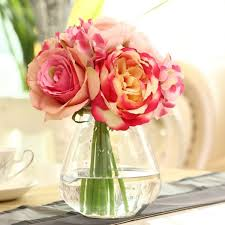 Artificial Flowers Home Decor by Silk Flower Hydrangeas Wedding Decor Peony Bridal Bouquet
