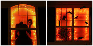 halloween monster window silhouettes skeleton window poster posters halloween decoration decor plastic
