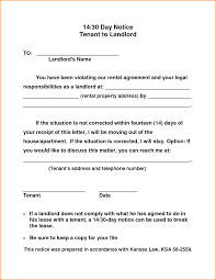 30 Day Notice Of Termination by 10 30 Day Notice To Landlord Template Loan Application Form