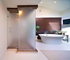 frosted glass shower doors bathroom contemporary with frosted