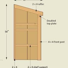 1 trash bin shed plans storage shed design softwarefreepdfplans