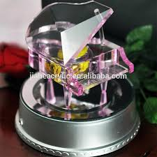 Unique Music Boxes Exquisite Unique Crystal Piano Music Box With Rotary Led Light