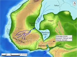 Niger River Map Reconstruction Of The Evolution Of The Niger River And