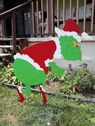 grinch lawn decoration outdoor grinch christmas decorations christmas lights card and