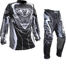 white motocross gear wulf attack motocross jersey u0026 pants black kit new