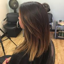 dark hair ombré summer hair styles for brown hair medium length