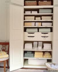 linen closet organizing a linen closet martha stewart