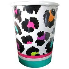 cheetah print party supplies rainbow leopard print 9oz paper cup 8 birthday party supplies