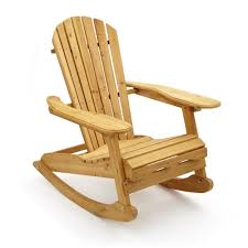 A Rocking Chair Trueshopping Adirondack Bowland Rocking Armchair For Garden Or