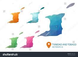 Blank Outline Map Of Trinidad And Tobago by Set Vector Trinidad Tobago Maps Bright Stock Vector 518801266