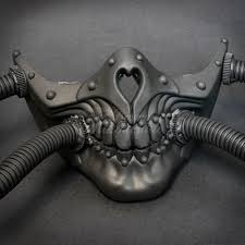 steunk masquerade mask respirator skull gas hose steunk masquerade mask black m33238