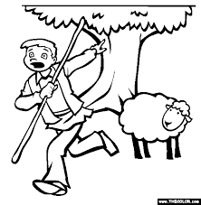 coloring page of wolf the boy who cried wolf online coloring page