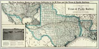Map Of New Mexico And Texas by Texas And Pacific Railway The Handbook Of Texas Online Texas