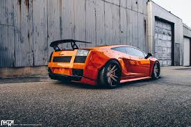 red chrome lamborghini orange chrome wrapped lamborghini gallardo by niche wheels u2014 carid