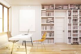home library home library with bookshelves by the sides of a door and a white