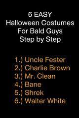 Halloween Costumes Bald Guys 6 Halloween Costumes Bald Guys Step Step Sirhare