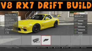 rx7 drift forza motorsport 5 v8 mazda rx7 fd drift build youtube