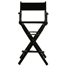 Folding Directors Chair 30 In Director U0027s Chair Black At Home At Home
