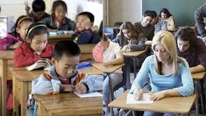 high school in united states third graders falling u s high school students in