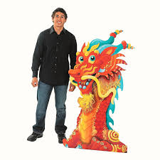 New Years Decorations Amazon by Amazon Com Dragon Head Stand Up Chinese New Year U0026 Party