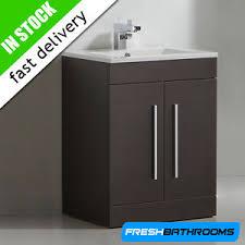 Modern Dark Wood Bathroom Basin Furniture Storage Vanity Sink - Bathroom basin and cabinet