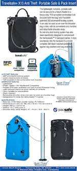 travel safe images Pacsafe travelsafe x15 anti theft portable safe quiet travel 15022