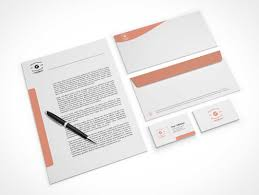 stationery envelopes company stationery letterhead business cards envelopes psd