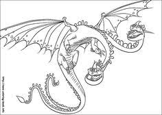 amazing train dragon deadly nadder coloring pages