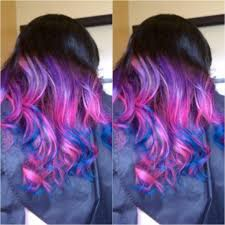 ombré sew in using manic panic cotton candy pink purple haze and