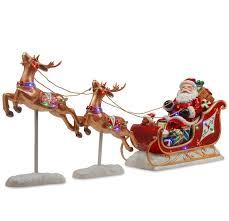 santa sleigh and reindeer national tree co santa s sleigh and reindeer assortment reviews