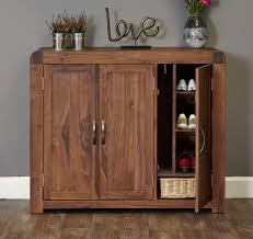hall furniture shiro walnut extra large shoe cupboard