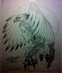 tattoo eagle girl eagle girl flash i would do this with an owl tattoos