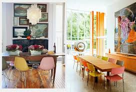 mixing mid century modern and rustic colorful dining chairs modern mix up design lovers blog