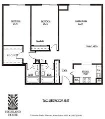 Two Bedroom Floor Plan Highland House Apartments Worcester Ma 1 And 2 Bedroom Luxury