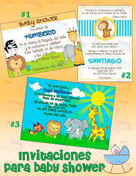 invitaciones de baby shower invitaciones animalitos 100 00 en