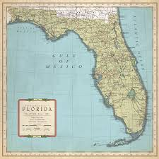 Flordia Map Vintage Florida Map My Blog