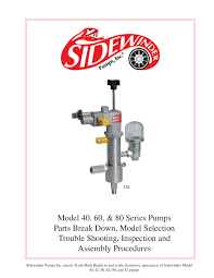 40 60 80 sidewinder chemical pumps operators manual by rmc process