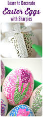 Decorating Easter Eggs Easy by Easy Dotted Sharpie Easter Eggs