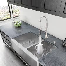 vigo 36 inch farmhouse stainless steel 16 bowl